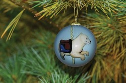 2015 HOLIDAY CAROUSEL  ORNAMENT POLAR BEAR