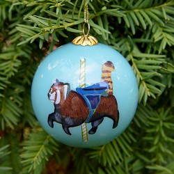 2016 CAROUSEL ORNAMENT RED PANDA